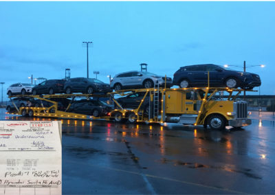 9 Hyundai cars loaded onto Boydstun 9106-48-EZ auto hauler