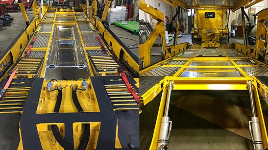 Boydstun 9106-48-EZ car hauler belly, deck, and trailer frame structure