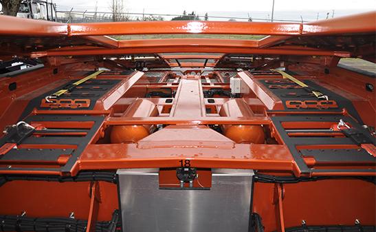 Deck view of Boydstun 9107-46 QL car hauler