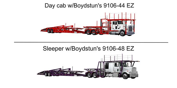 Day cab w/Boydstun's 9106-44 EZ trailer compared to Sleeper w/Boydstun's 9106-48 EZ trailer