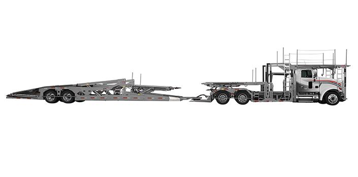 Side view of Boydstun's 9106-44 EZ car carrier trailer