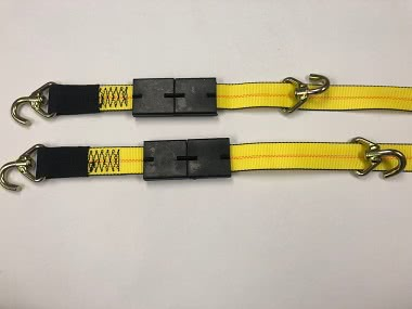 Yellow straps for Boydstun trailers