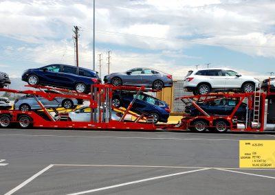 Loaded Boydstun 10 car hauler