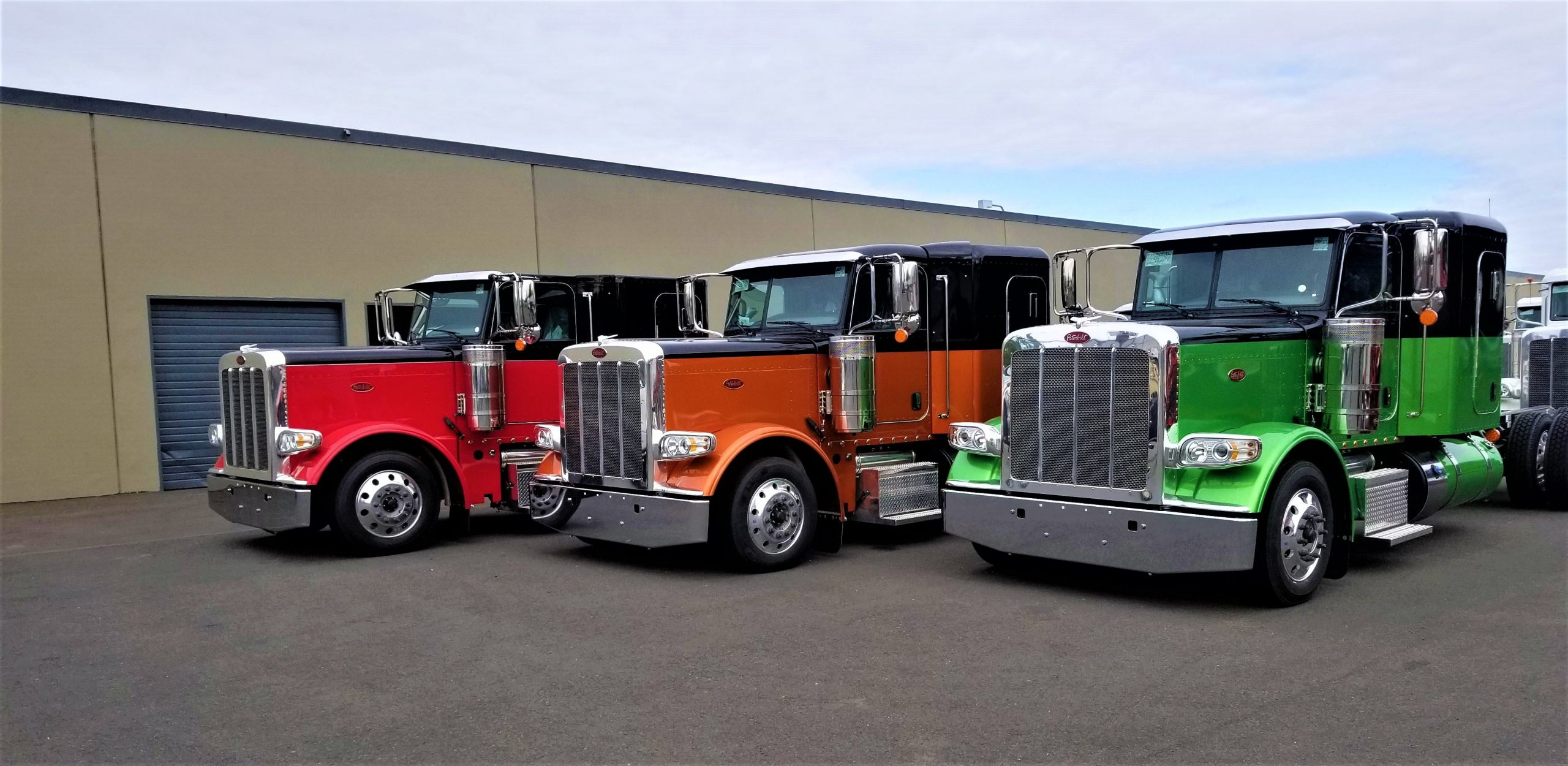 Colorful truck cabs for car haulers from Boydstun