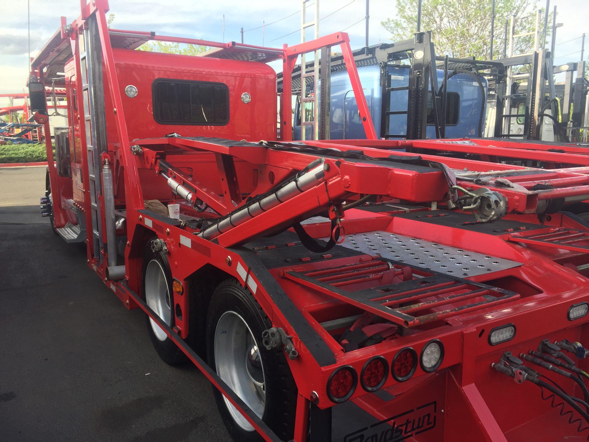 Winter tarp accessory for Boydstun trailers