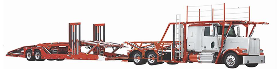Side view of Boydstun trailer design for 9107-46 QL car hauler trailer